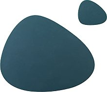 Voopaaly Set of 4 Oval Silicone Placemats 45X36cm