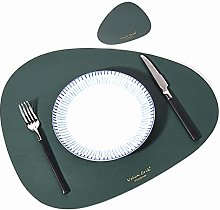 Voopaaly Set of 4 Placemat and Coasters Faux