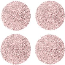 Voopaaly Set of 4 Round Woven Placemat 40cm