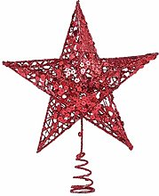 VORCOOL Christmas Tree Topper Five-pointed Star
