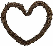 VORCOOL Heart Shaped Grapevine Wreath Natural Twig