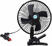 VOSAREA 10Inch Car Cooling Fan 2 Gears Desk Clip