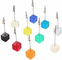 VOSAREA 10pcs Cube Resin Card Picture Memo Note