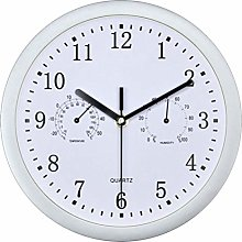 Vosarea 1pc Wall Clock with Hygrometer Thermometer