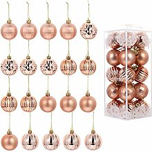 VOSAREA 20Pcs Christmas Ball Ornament DIY Hanging