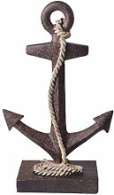 VOSAREA Anchor Figurine Resin Anchor Statue