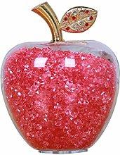 VOSAREA Apple Figurines Christmas Crystal Apple
