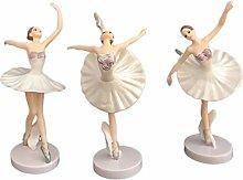 VOSAREA Ballerina figures dancing girl figures