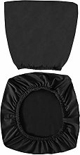 VOSAREA Black Office Chair Covers Stretch Computer