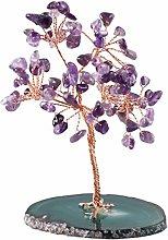 VOSAREA Crystal Money Tree Lucky Feng Shui Tree
