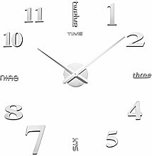 VOSAREA DIY frameless wall clock simple round wall