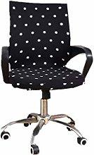 VOSAREA Dot Pattern Desk Chair Covers Office Chair