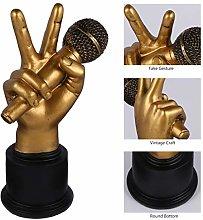 VOSAREA Hand Gesture Desk Statues Finger Sculpture