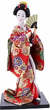 VOSAREA Japanese Geisha Kimono Doll Collectible