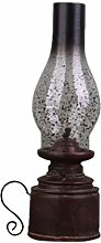 VOSAREA Kerosene Lamp Resin Vintage Nostalgic Oil