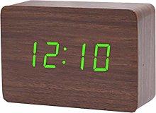 VOSAREA LED Glow in the dark Wooden Digital Alarm