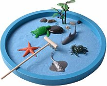 VOSAREA Mini Sandbox Zen Garden Sand Play Tray