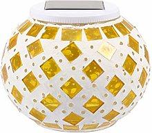 VOSAREA Mosaic Glass Ball Garden Lights Dream