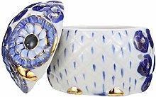 VOSAREA Owl Cookie Jar with Lid Owl figurine