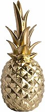 VOSAREA Resin Pineapple Ornament Gold Pineapple