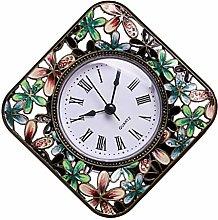 VOSAREA Retro Clock Mute Bedside Clock Tabletop