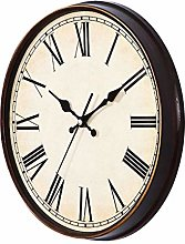 Vosarea Round Wall Clock Vintage Hanging Clock for