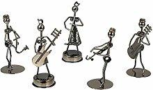 VOSAREA Small Iron Art Musician Music Band Crafts