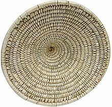 VOSAREA Straw Weaving Pot Cover Straw Pot Lid