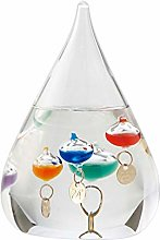 VOSAREA Tear Drop Shaped Glass Galileo Thermometer