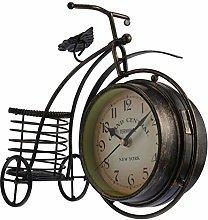 VOSAREA Vintage Metal Bicycle Desk Clock Rustic