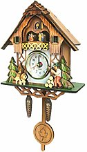 Vosarea Wooden Cuckoo Clock Antique Pendulum Wall