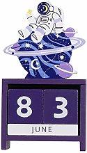 VOSAREA Wooden Desk Blocks Calendar with Space