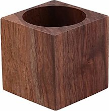VOSAREA Wooden Tealight Holder Square Tealight