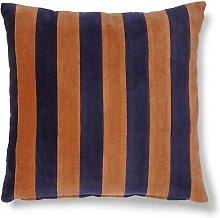 Voulon Blue and orange striped velvet