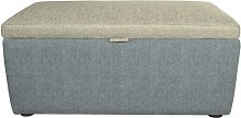 Vouno Ottoman August Grove Upholstery: Storm/Pewter