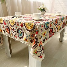 VOVEY Vintage Ethnic Tablecloth Rectangular Table
