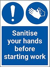 Vsafety Sanitise Your Hands Before Starting Work -