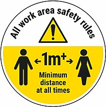 Vsafety Work Area Rules - Keep 1M Distance - 300mm