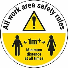 Vsafety Work Area Rules - Keep 1M Distance - 450mm