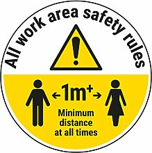 Vsafety Work Area Rules - Keep 1M Distance - 600mm