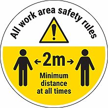 Vsafety Work Area Rules - Keep 2m Distance - 450mm