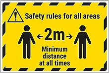 Vsafety Work Area Rules - Keep 2m Distance - 600mm