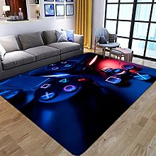 Vscdye Cartoon Kids Gamer Area Rugs 3D Game