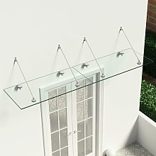 VSG Safety Glass Canopy Front Door 240x60 cm
