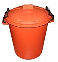 VSL 50 Litre Orange Plastic Outdoor Bin