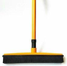 VSTAR66 Carpet Bristle Broom, Long Push Rubber