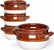 Vumdua French Onion Soup Bowls with Handles, 16 Oz
