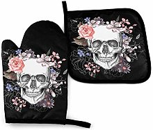 VunKo Day of The Dead Oven Mitts and Pot Holders