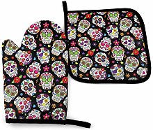 VunKo Day of The Dead Sugar Skull Oven Mitts and