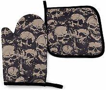 VunKo Grunge Sugar Skulls Oven Mitts and Pot
